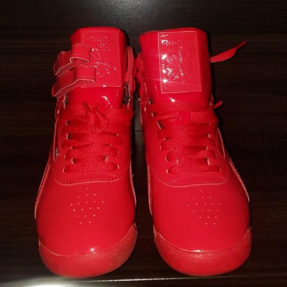 Grave Regan Higgins  Reebok Shoes | Red Patent Leather Reebok Classic | Poshmark